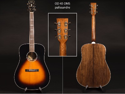 GUITARE VALLEY&BLUES OD 45 OMS palissandre